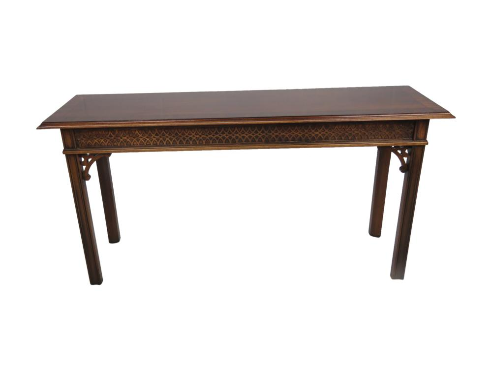 Mahogany Chippendale Style Console
