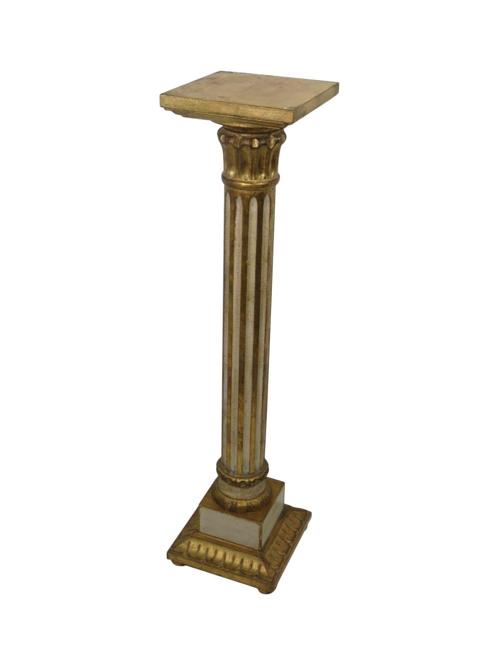 Florentina Italian Giltwood Pedestal