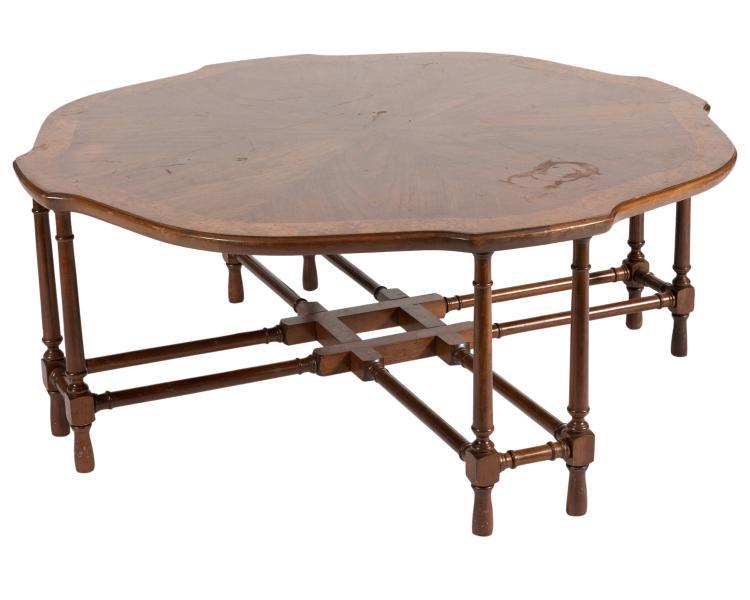Faux Bamboo Walnut Coffee Table