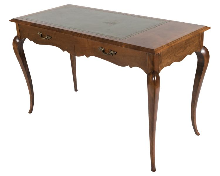 French Style Cherry Leather Top Desk