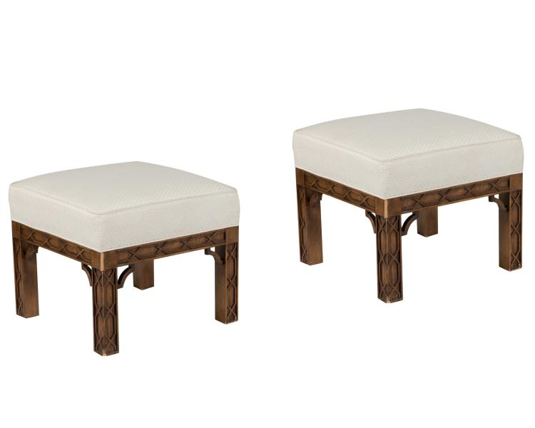 Chippendale Style Benches - Pair