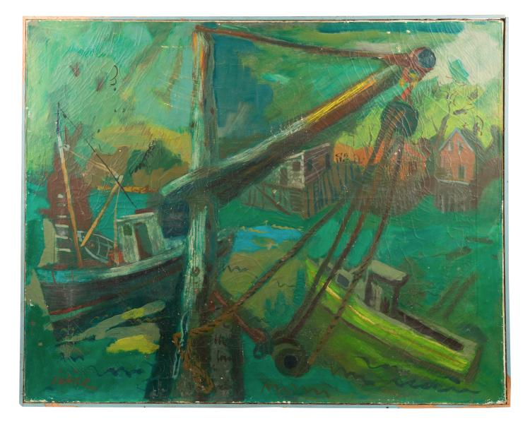Oil on Canvas - Boats