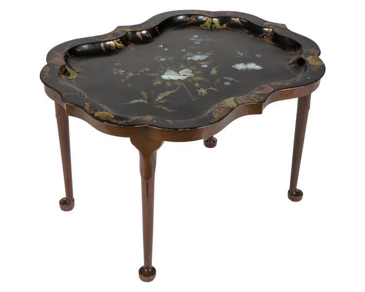 19th C. England Mother of Pearl Tray Top Table