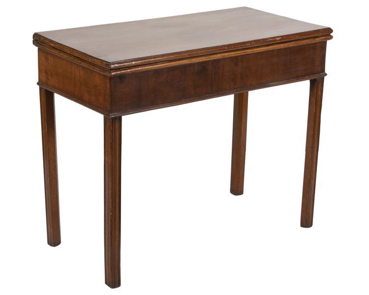 Antique Mahogany Flip Top Game Table