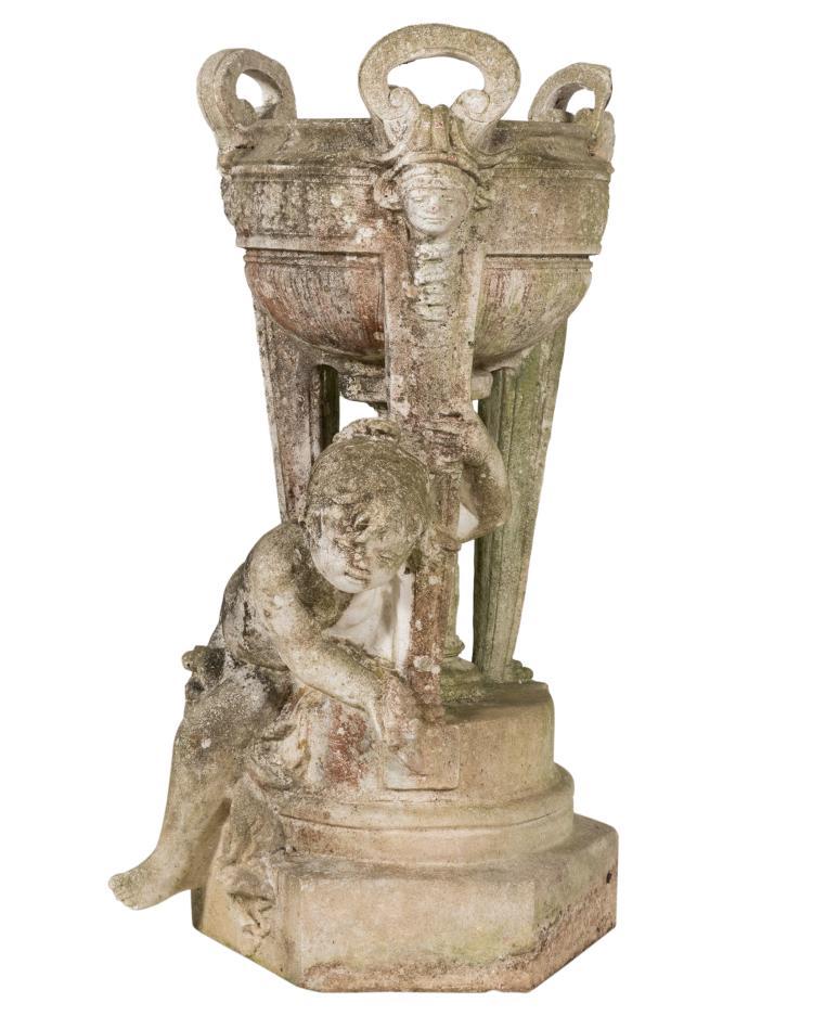 Figural Stone Planter