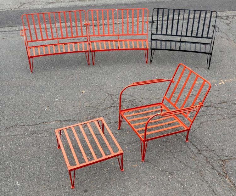 Deco Style Wrought Iron 3 Piece Set