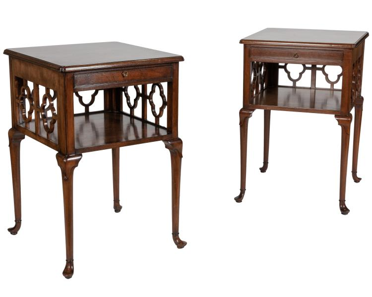 Smith and Watson Walnut End Stands - Pair