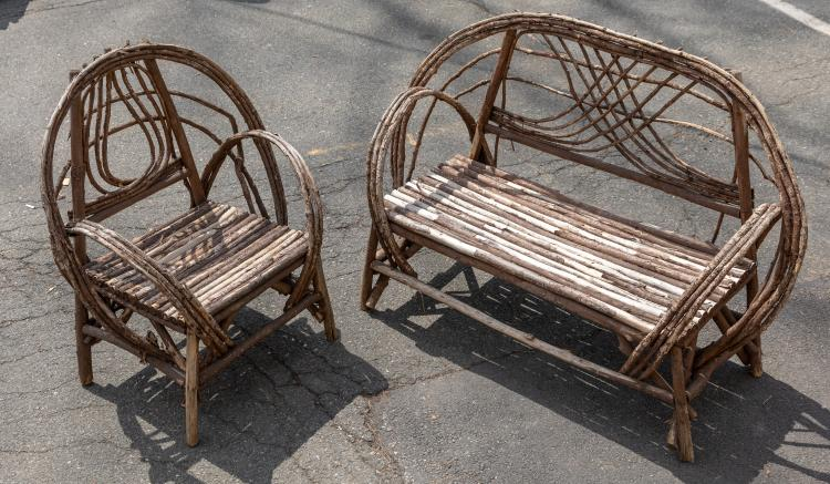 Willow Twig Loveseat and Chair