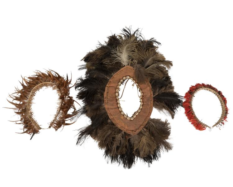 Masai Feather Headdresses - Three