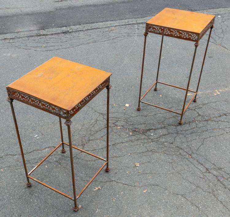 Pair Iron High Tables