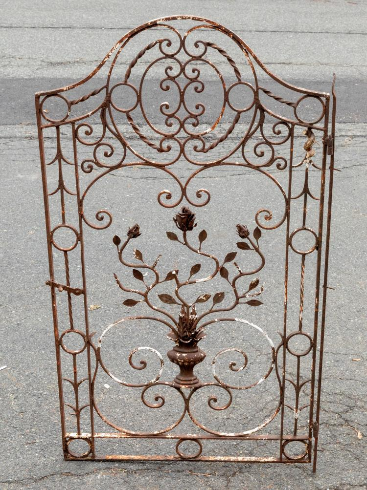 Floral Wrought Iron Gate