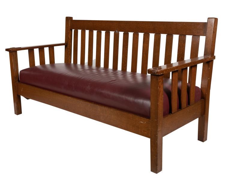 Quaint Furniture CO. Mission Oak Settee