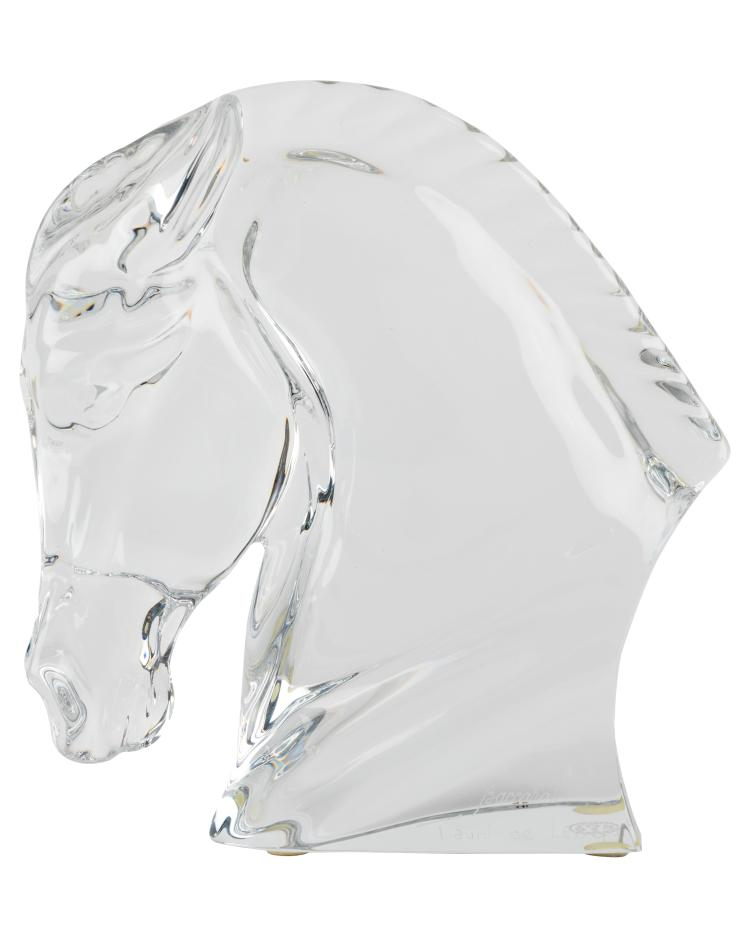 Baccarat Taunide Lesseps Crystal Horse Bust