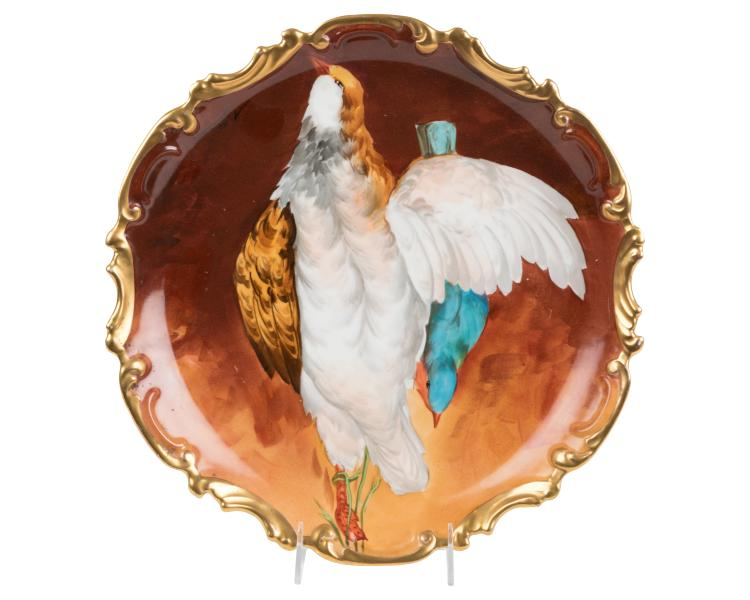 Hand Painted Limoges Charger - Signed