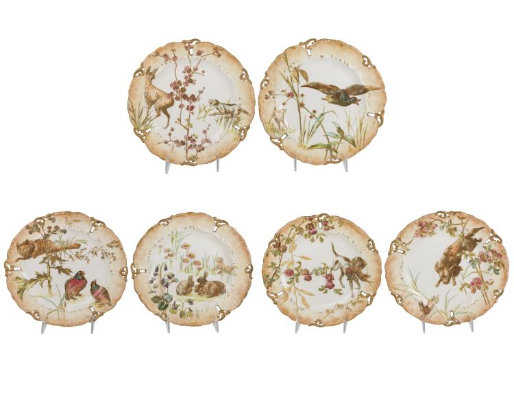 Doulton Burslen Game Plates - Six