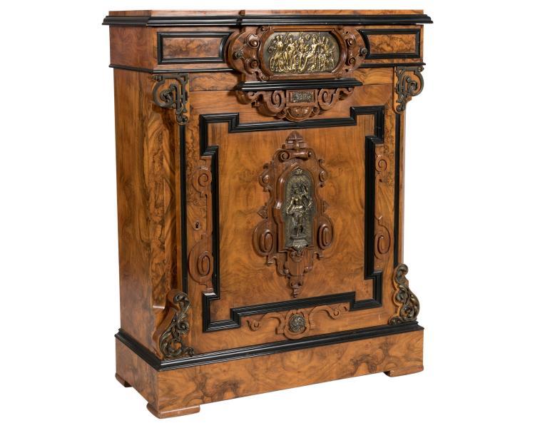 Victorian Burled Cabinet