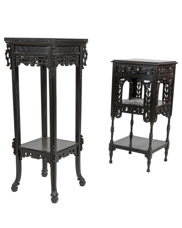 Ebonized Aesthetic Pedestals - Two