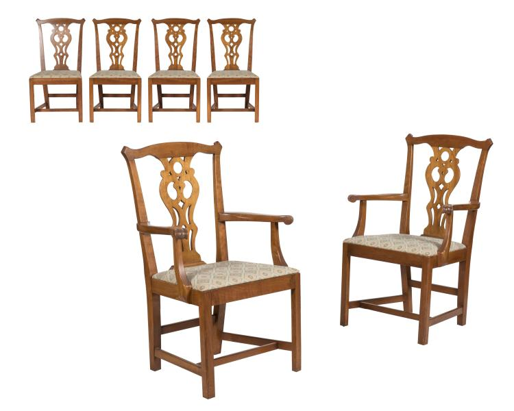 Stickley Cherry Valley Dining Chairs - Six