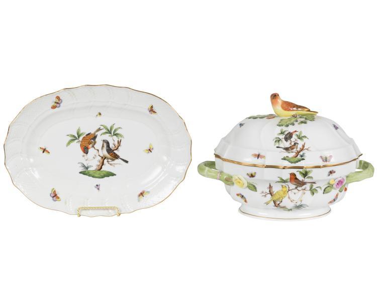 Herend Rothschild Casserole and Platter