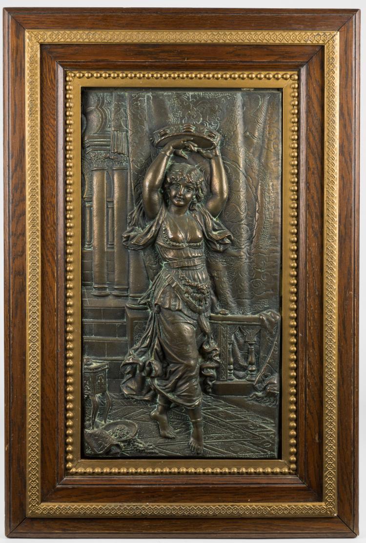 Victorian Bronze Relief Plaque