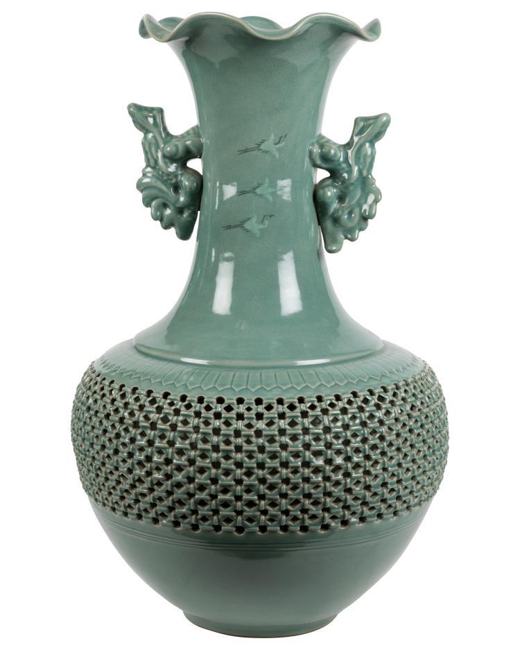 Large Chinese Vase - Signed