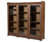 Three Section Oak Bookcase