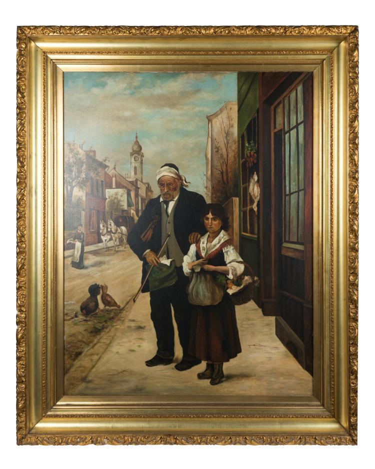 Oil on Canvas - European Street Scene
