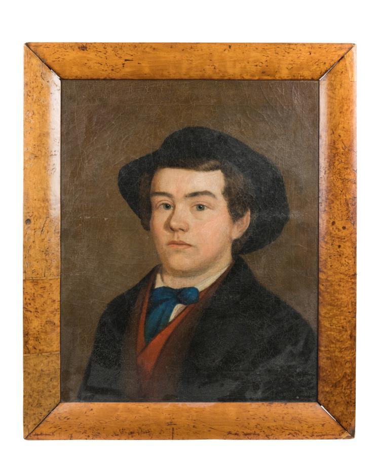19th C. Portrait Oil on Canvas