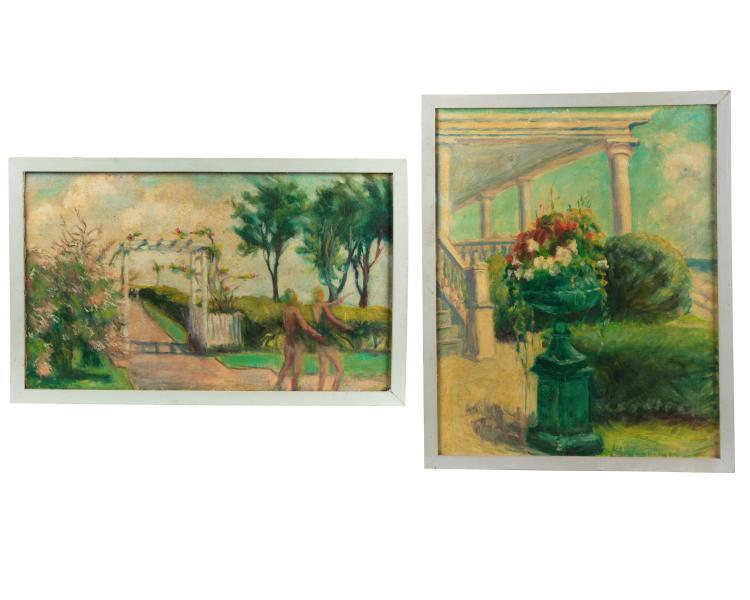 Helen A.F. Penniman - Two Oil Paintings