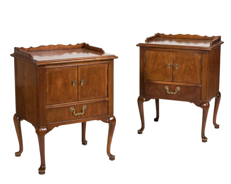 Pair Cherry Nightstands