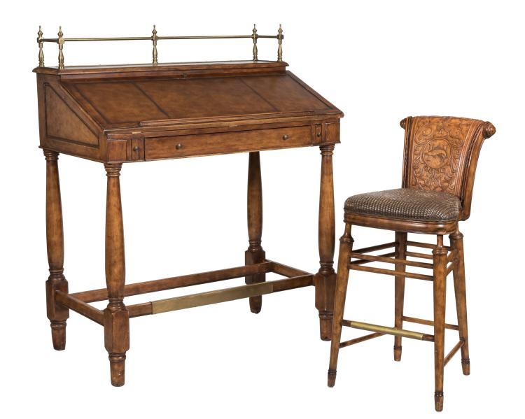 Thomasville Ernest Hemingway Desk and Stool