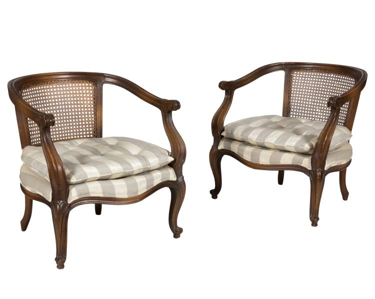 Three French and Cane Chairs