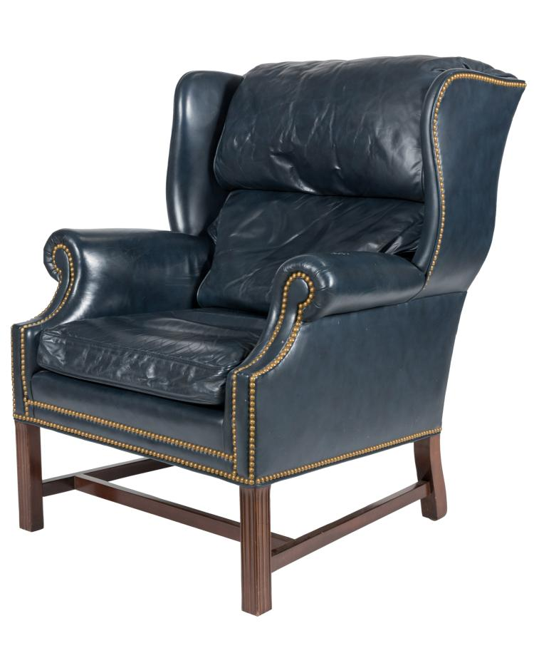 Hancock Moore Leather Chair - Signed