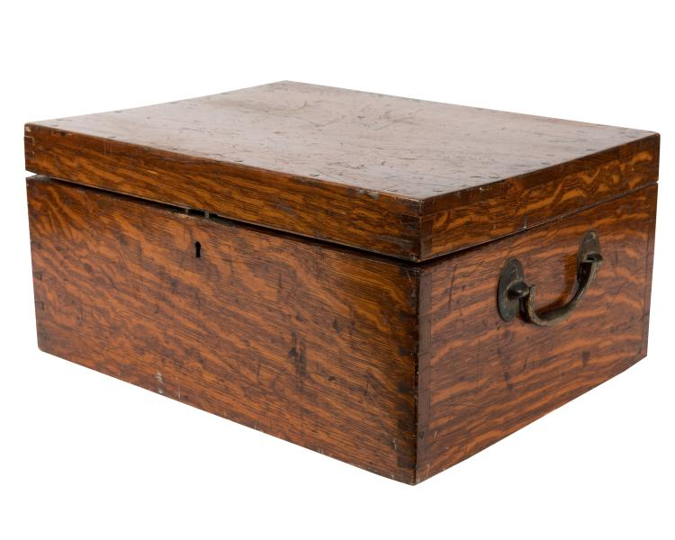 Army and Navy Oak Cutlery Box