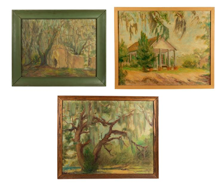 Helen A.F. Penniman - 3 Oil Paintings