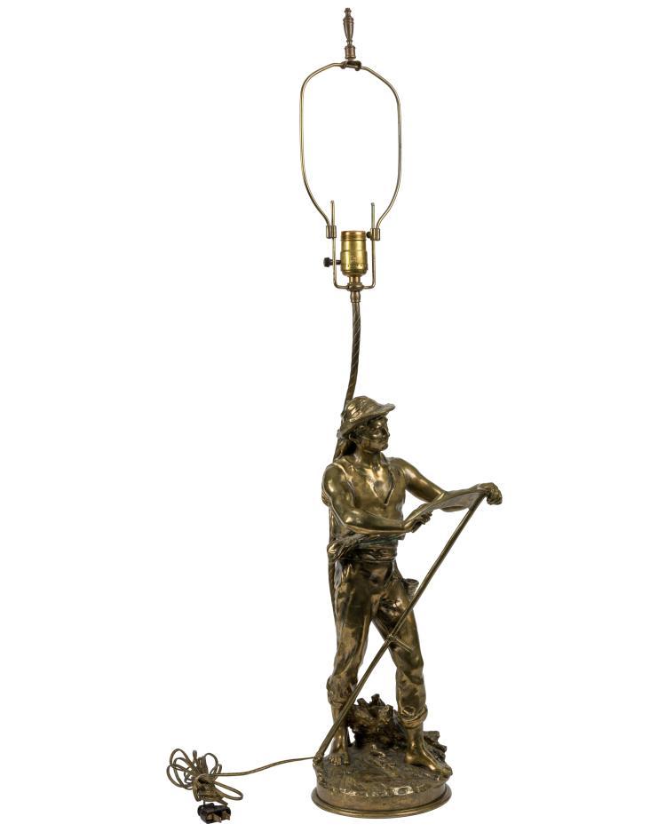 Matthew Moreau Bronze Farmer - Signed