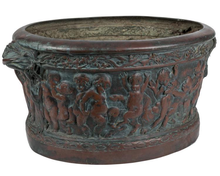 Figural Copper Planter