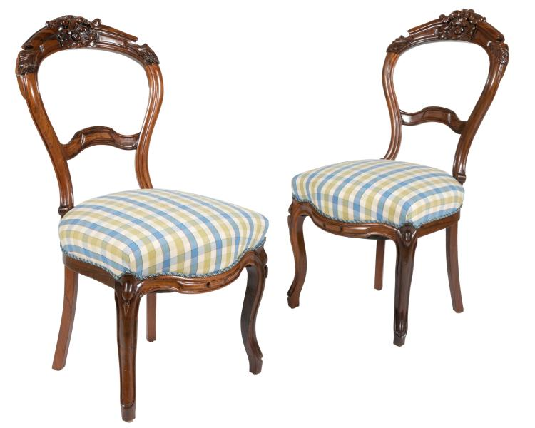 Victorian Parlor Chairs - Pair