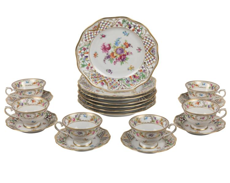 Dresden Luncheon/Dessert Set - 27 Piece
