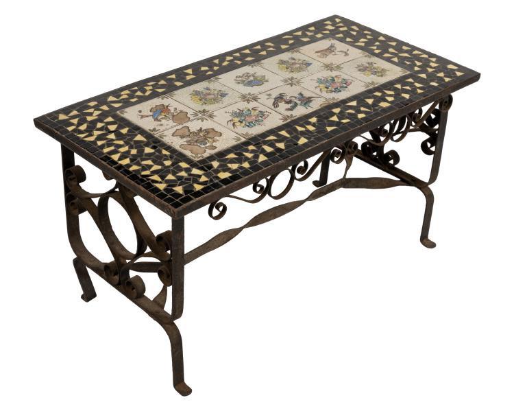 Iron Tile Top Table