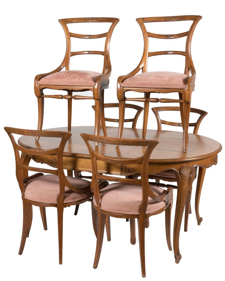 Danby Fruitwood Dining Table and Six Chairs