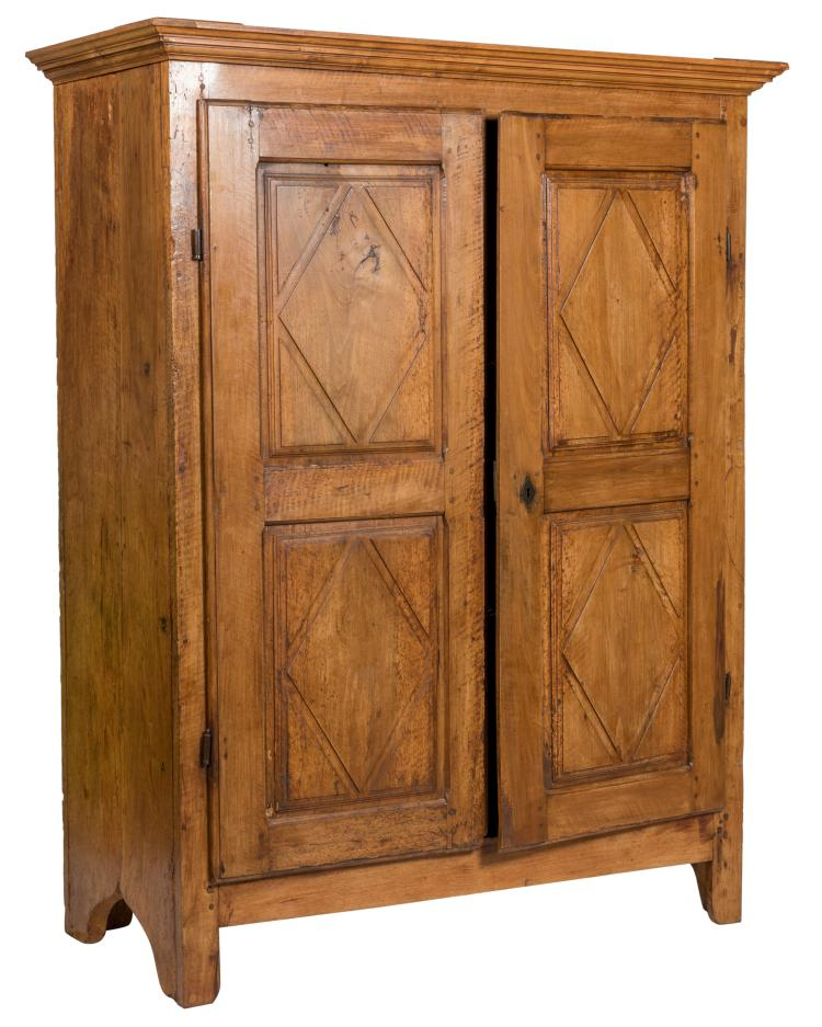 18th C. Continental Fruitwood Cabinet