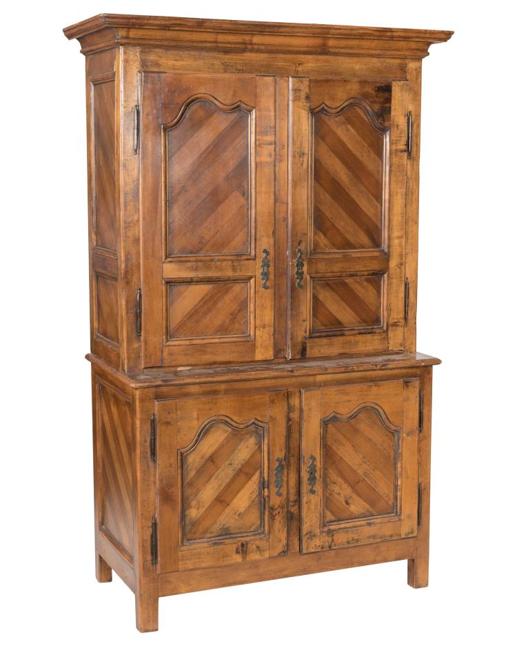 Primitive Style Two Part Cupboard