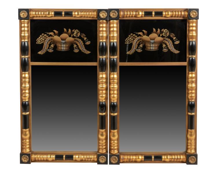 Hitchcock Empire Style Mirror - Pair