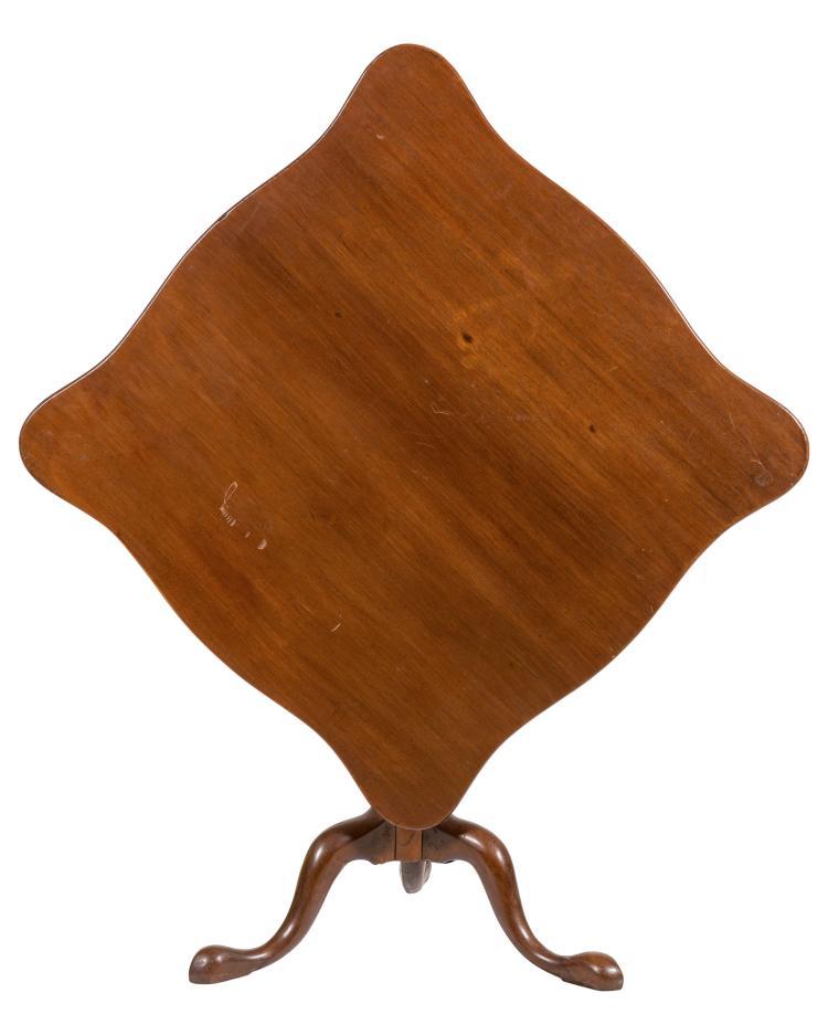 Queen Anne Mahogany Tilt Top Tea Table
