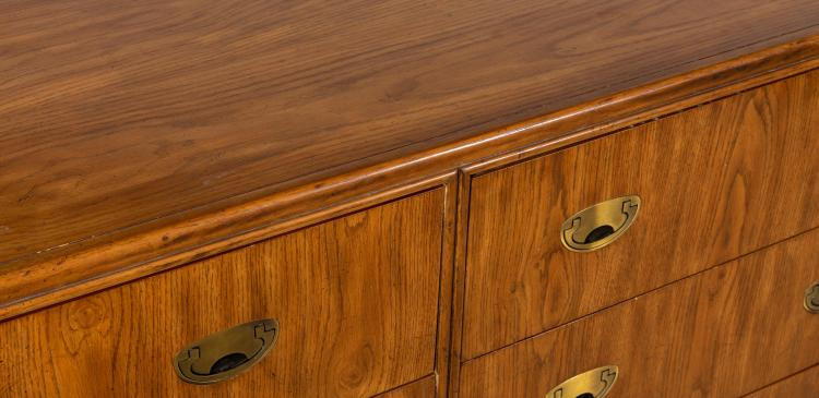 Drexel Passage Oak Campaign Dresser