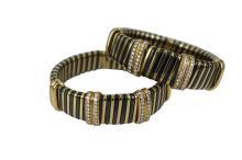 Set of Diamond & Gold Bracelets
