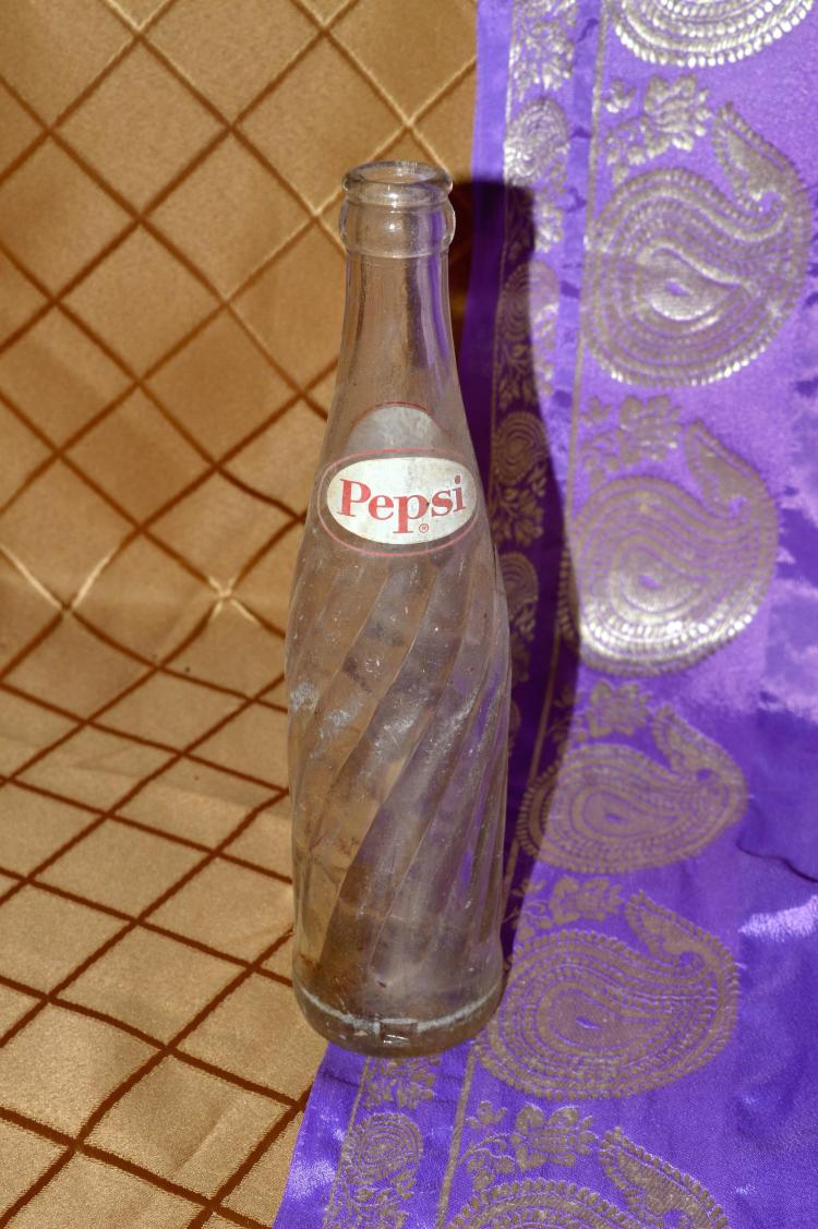 10 oz Pepsi Cola Bottle clear old vintage antique