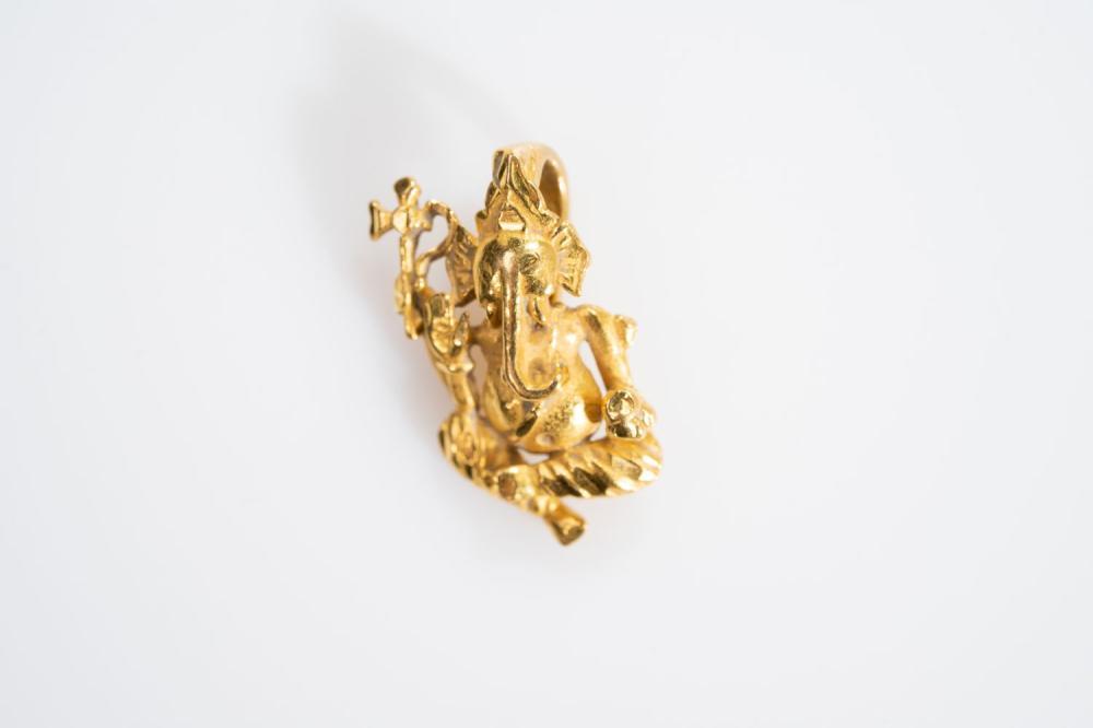 22KY  Hindu God Genash Pendant