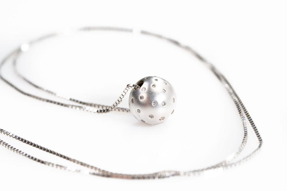 """14KT Estate Modern Diamond Necklace24"""""""